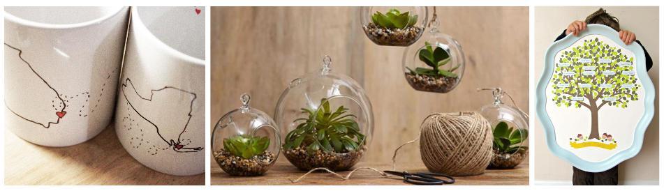 DIY mug, terrarium, plate