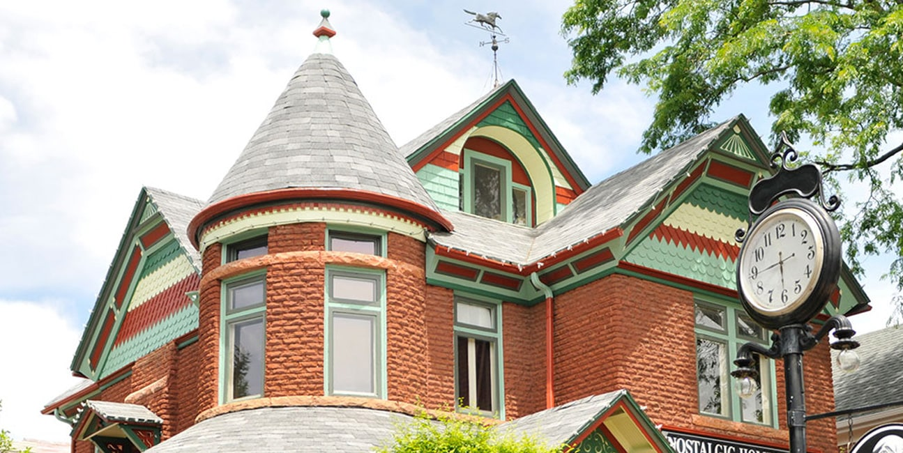 Brick Victorian style house in Denver
