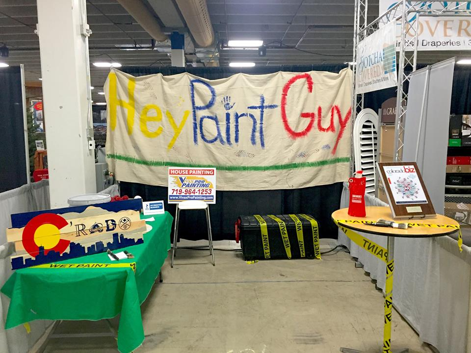 Hey Paint Guy booth at Colorado Springs Home and Garden Show