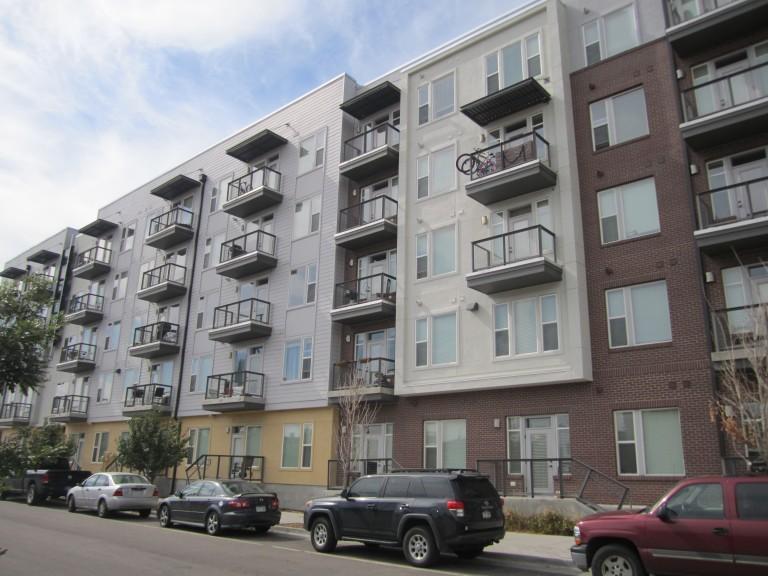 Exterior apartment building in RiNo, Denver