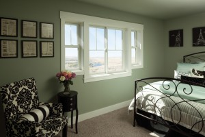 Master bedroom with new windows