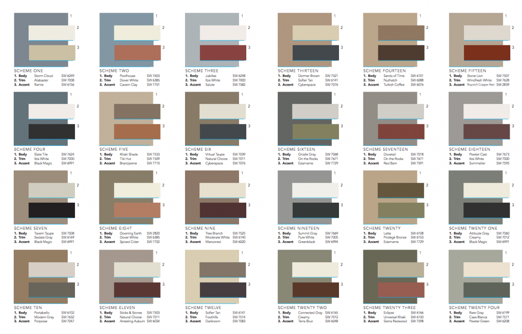 Color Schemes For Sherwin Williams