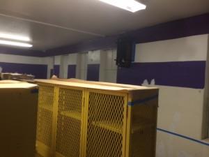 Newly painted locker room
