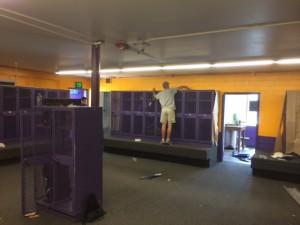 Vivax Pros painting locker room