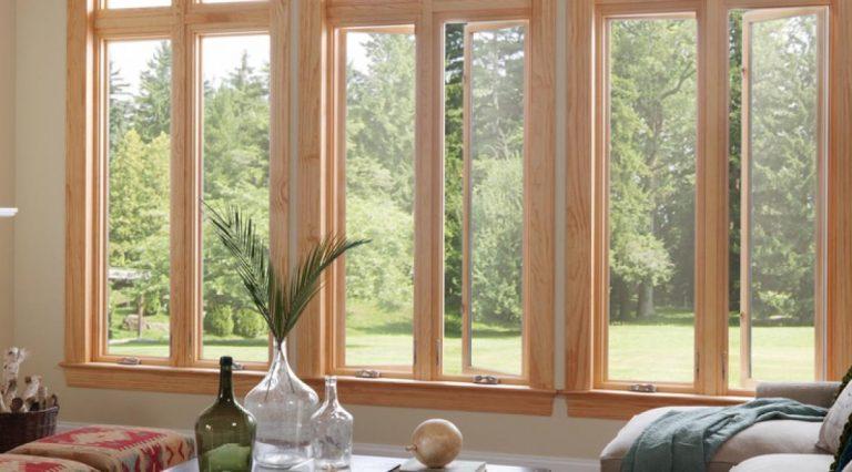 Natural Wood casement windows
