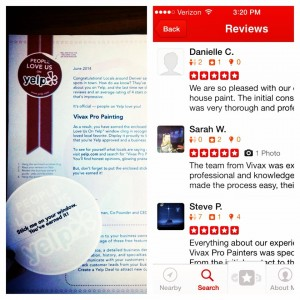 Screenshot of Yelp Reviews