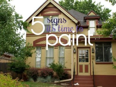 5 Signs Its Time to Paint graphic