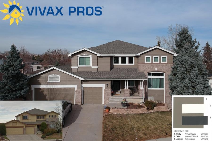 Exterior paint color selection paint vivax pros - Cost to paint house exterior trim ...