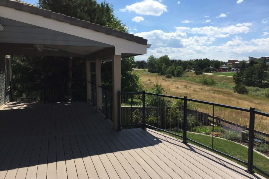 Covered Patio with Wire Rail overlooking Golf course
