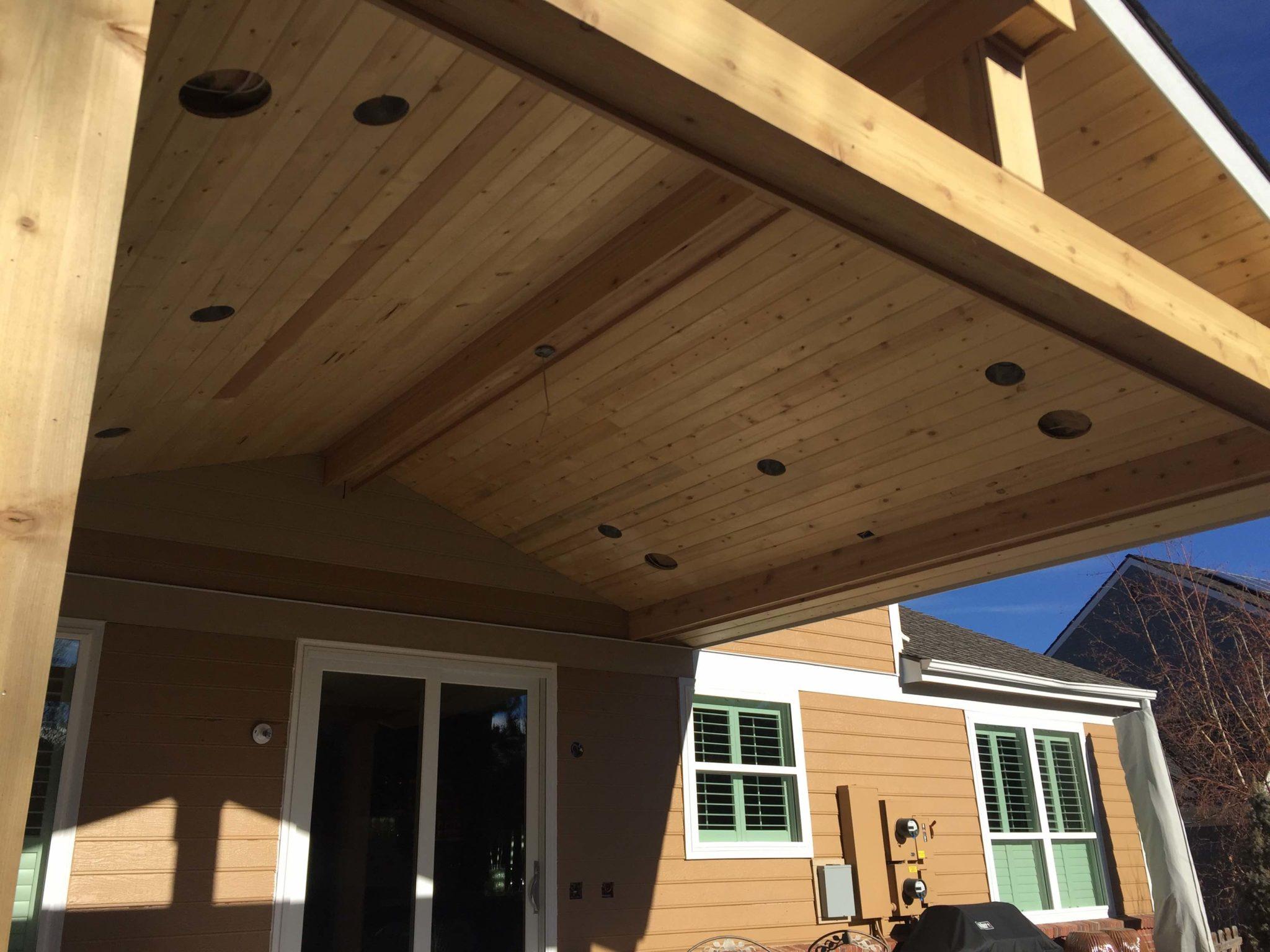 Custom Patio Roof With Lighting Vivax Pros