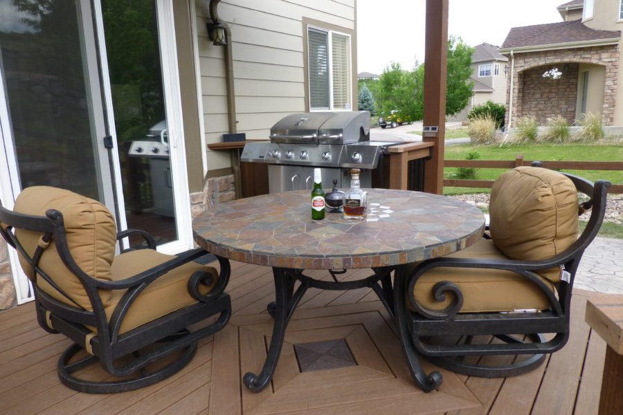 Brown Trex Deck with Custom Center and Table