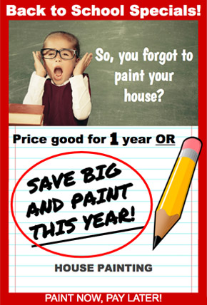 Back to School Paint Promotion